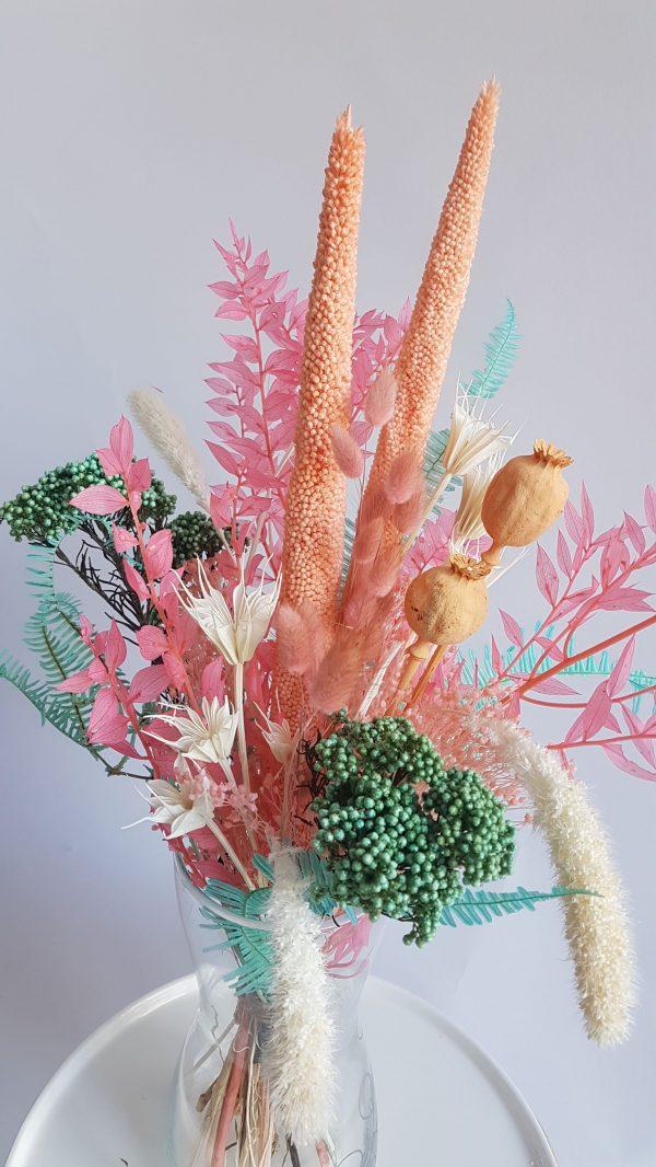 Geboorte boeket droogbloemen droogboeket uitgeest alkmaar castricum heemskerk limmen heiloo assendelft krommenie driedflowers