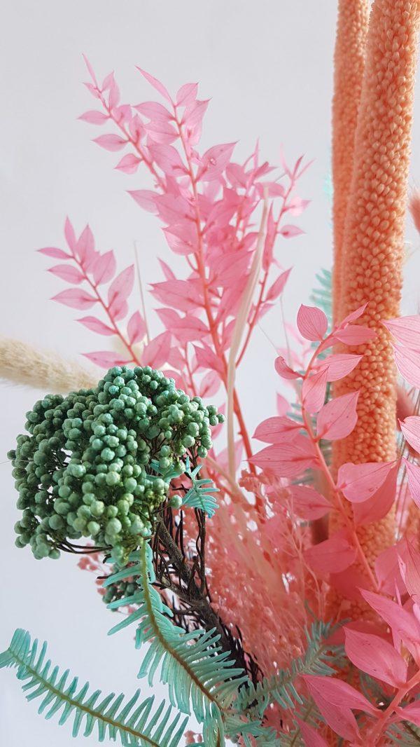 Geboorte boeket droogbloemen droogboeket uitgeest alkmaar castricum heemskerk limmen heiloo assendelft krommenie driedflowers bloemen versturen geboorte boeket