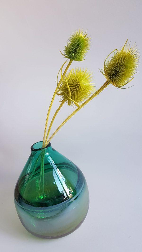 Distel droogbloemen gedroogde kaardebol groen